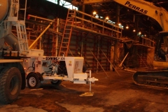 Baking Furnace Concrete Wall Construction